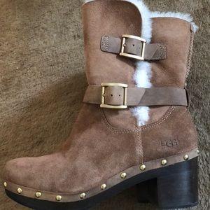 Ugg Shearling Heeled Boots